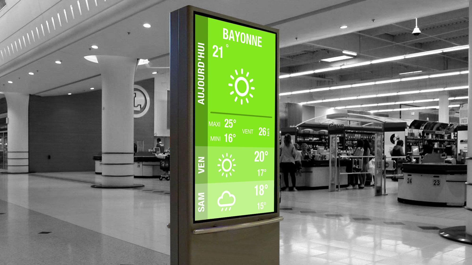 dalle LCD publicitaire sur pied Solsystems