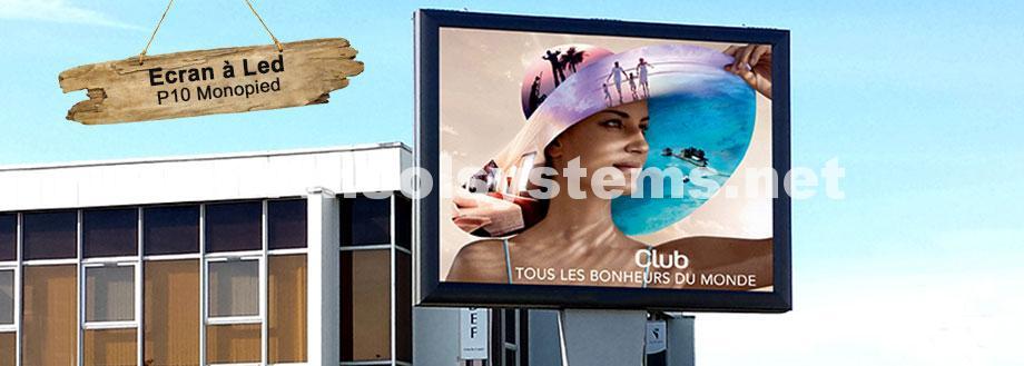 panneau publicitaire écran à Led Solsystems DisplaySystems