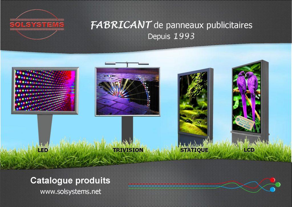 Solsystems catalogue panneaux publicitaires