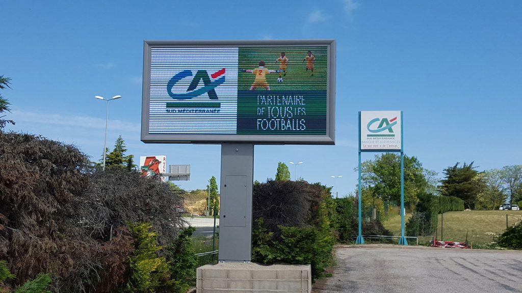 Panneau led Crédit Agricole Aquitaine 2