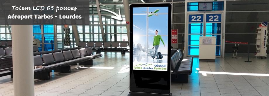 LCD 65 pouces Totem écran LCD